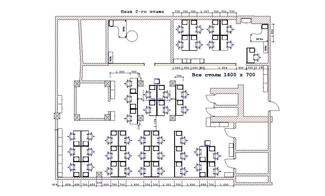 план офисной мебели