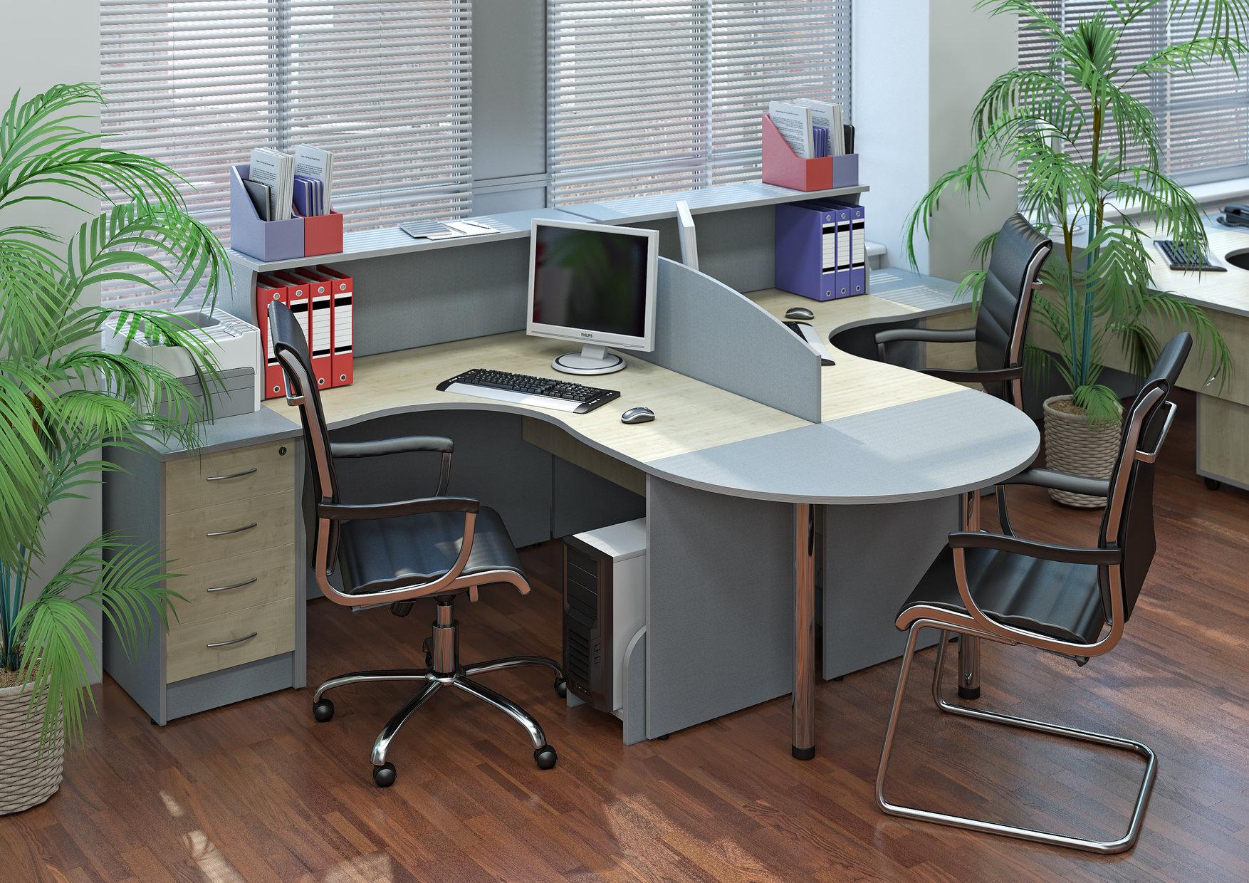 Мебель серого цвета офисная