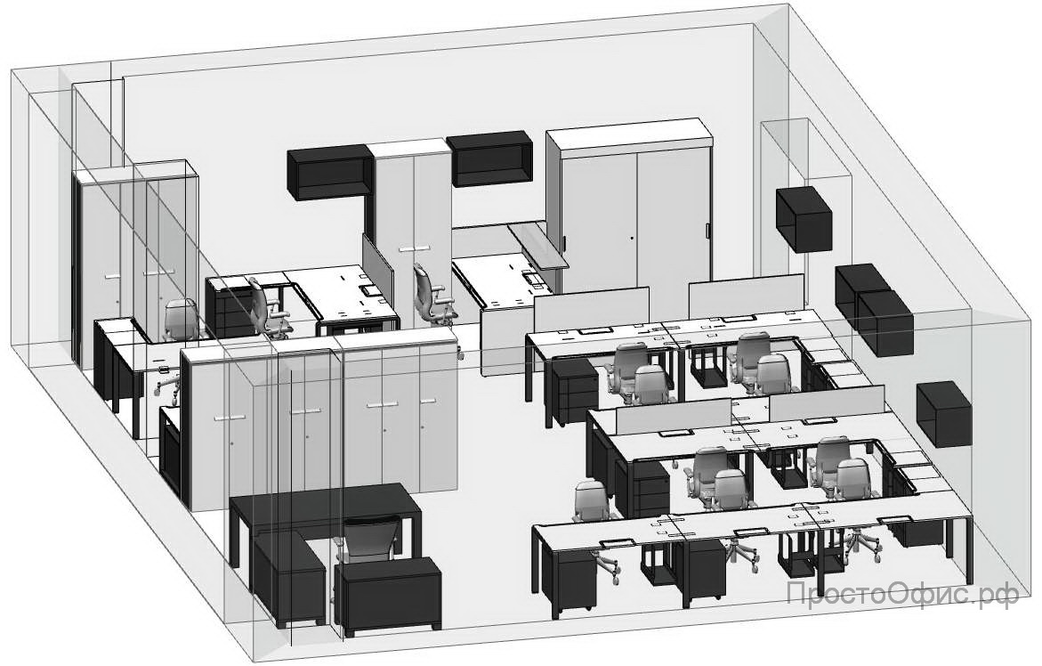 Расстановка мебели в офисе программа