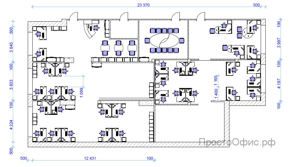 Дизайн проект офиса схема