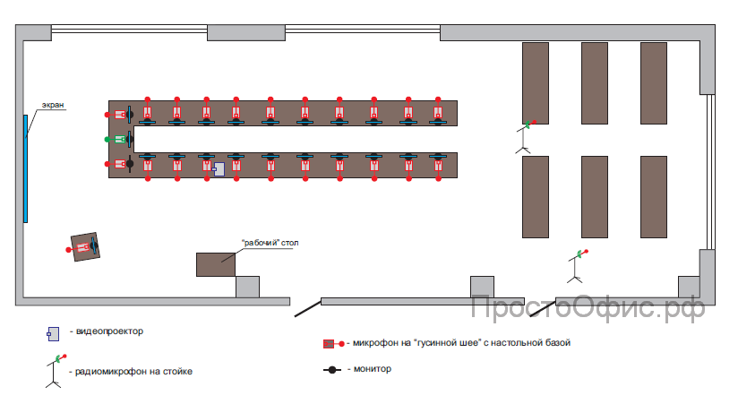Схема конференц зала